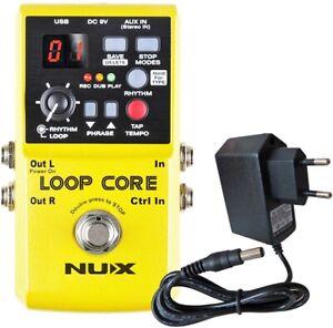 Nux Loop Core Processeur D'effets Guitare Looper Pédale + Keepdrum Bloc