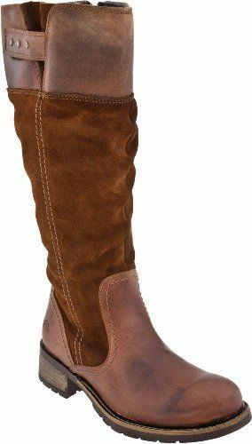 Bos & Co Women's Berwick Leather Suede Cognac Water Proof Zip Up Riding Boots