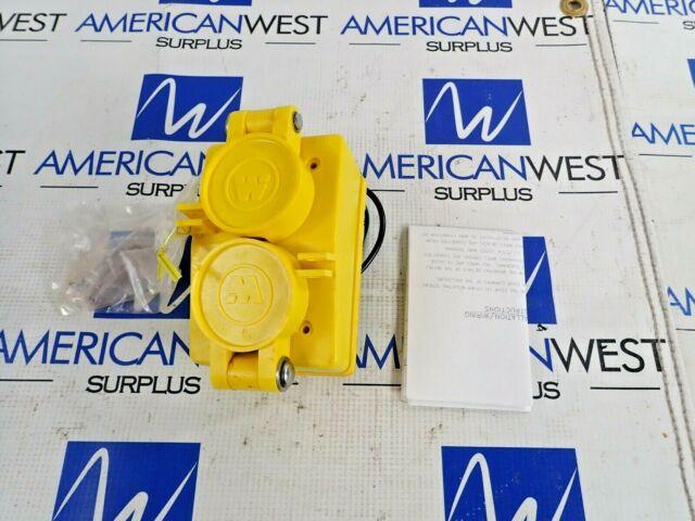 NEW Woodhead 60W33DPLX watertite duplex receptacle 20A 125V NEMA 5-20