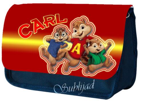 TROUSSE A CRAYONS Alvin et les Chipmunks Personnalisé avec prénom de votre choix