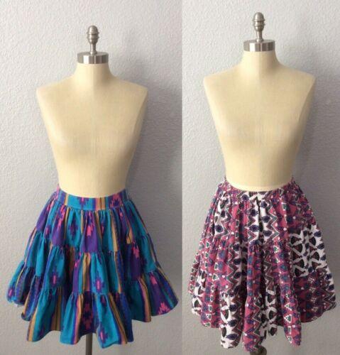 Vintage Square Dancing Cotton Circle Fulls Skirts
