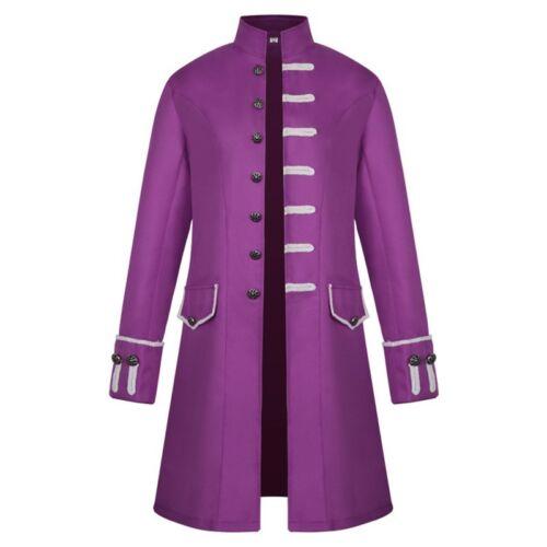 Medieval costume Man Dust coat Vintage Punk Standing collar Cosplay Costume