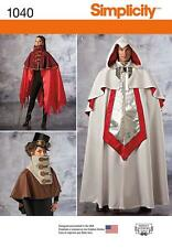 SIMPLICITY SEWING PATTERN MISSES' & MENS CAPE COSTUMES COSPLAY COMIC BOOK  1040