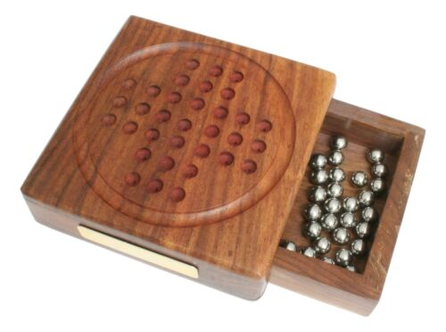 Aquarius  Zodiac Wooden Solitaire Set Board Game FREE ENGRAVING 9