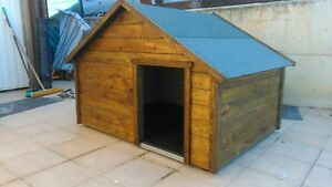 Caseta perro madera, grande, 153x103cm