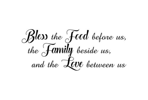 Bless the Food before us the family beside us Wall Stickers Quote UK Decor as1
