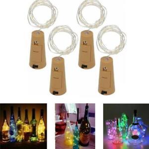 Botella-Tira-de-Lamparitas-bateria-en-forma-de-corcho-Navidad-Boda-Fiesta-20-LED-2m