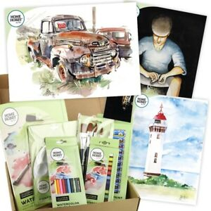 HomeHobby-by-3L-Watercolor-Studio-Kit-Plus-Step-by-Step-Guides-Rusty-Truck-Set