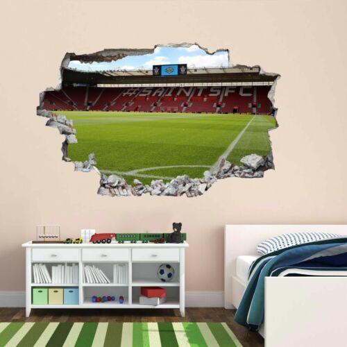 Stade de Football Southampton 3D Autocollant Mural Mural Décalcomanie Enfants Chambre à Coucher Décor BV9
