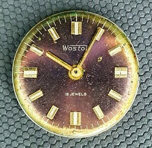 WOSTOK 2209 18 JEWELS MEN'S WRISTWATCH MOVEMENT FOR PARTS OR SERVICE USSR