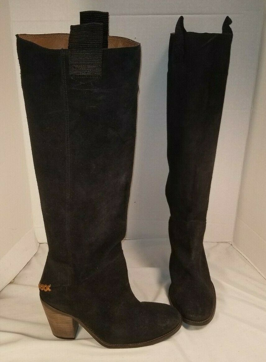 FREE PEOPLE MONTGOMERY BLACK SUEDE SLOUCH BOOTS WOMEN'S EUR 40 US 10