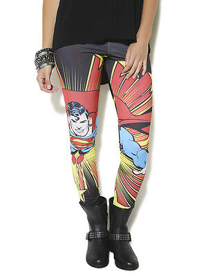 Superman Leggings DC Comics Book Juniors Sizing