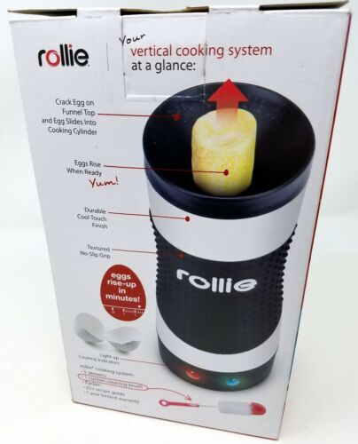 Rollie Hand-Free Automatic Electric Vertical Nonstick Easy Quick Egg Cooker New!