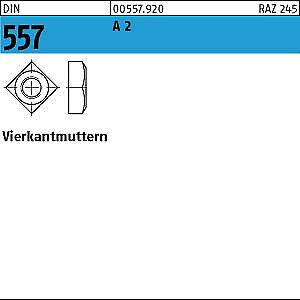 100 vierkantmuttern DIN 557 a2 m6 v2a Acier Inoxydable
