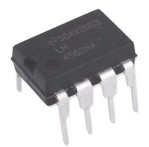 2PCS-National-Semiconductor-LM4562NA-LM4562-4562-Dual-OpAmp-DIP-8-New-IC