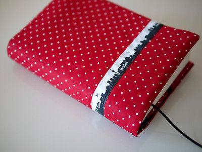 Buchumschlag Buchhülle Umschlag Stoff Taschenbuch o gebunde Bücher TULPEN