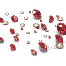 72 Mixed Sizes Swarovski 1088 XIRIUS Chaton Pointed Back red LIGHT SIAM (227)