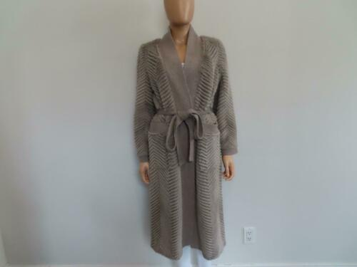 Private Label Taupe Sheared Mink/Cashmere Belted L