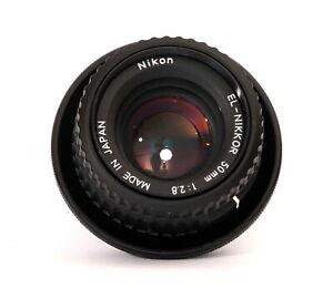 Vergroserungsobjektiv-Nikon-EL-Nikkor-2-8-50mm-M39-Anschluss-Zubehorpaket