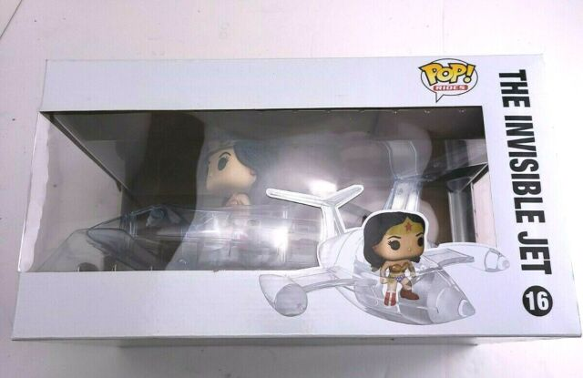 Funko POP Rides: DC Comics WONDER WOMAN INVISIBLE JET #16 Collectible Vinyl Fig