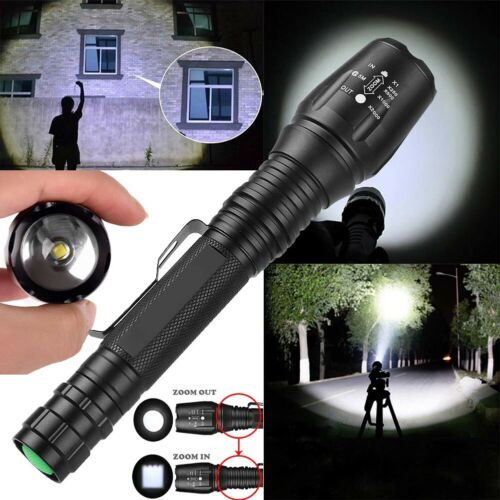 Details about  /350000LM Zoomable LED Flashlight Torch Camping Aluminum Lamp