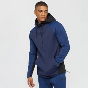 993ed82a9660 Nike Tech Pack Fleece Half-Zip Hoodie Obsidian Black 884892 451 ...