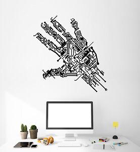 Vinyl-Wall-Decal-Hand-Chip-Computer-Gamer-Programmer-Imprint-Stickers-1829ig