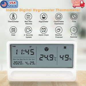 LCD-Temperature-Humidity-Meter-Indoor-Digital-Hygrometer-Thermometer-with-Clock
