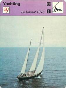 FICHE-CARD-Transat-1976-Pen-Duick-Eric-Tabarly-France-Voilier-Yacht-70s