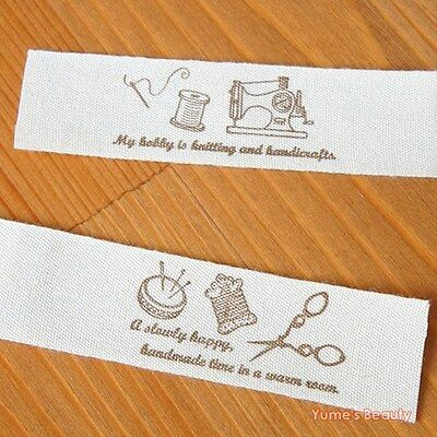 2 yards: Cut & Sew Labels/ Fabric Ribbon Handmade & Sewing Time 20mm