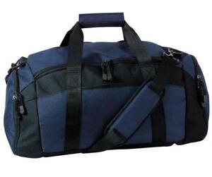 f98ee8158e Personalized Duffle Bag Gym Sport Duffel NAVY blue with black trim ...