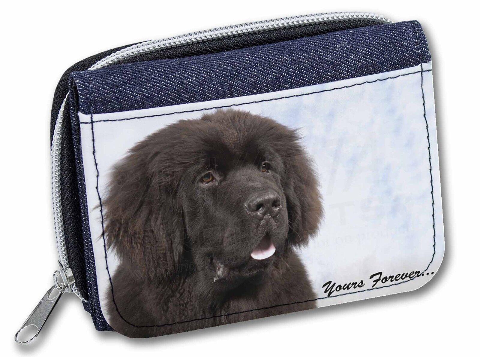 Newfoundland Dog 'Yours Forever Girls/Ladies Denim Purse Wallet Christ, AD-NF3JW