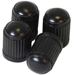 4-er-Set-Kunststoff-Auto-Ventilkappen-schwarz-fuer-alle-PKW-Ventile