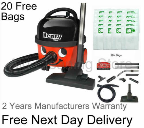 New NUMATIC HENRY HVR160-11 class A Bagged Vacuum Cleaner 20x HEPA FLO BAGS FREE