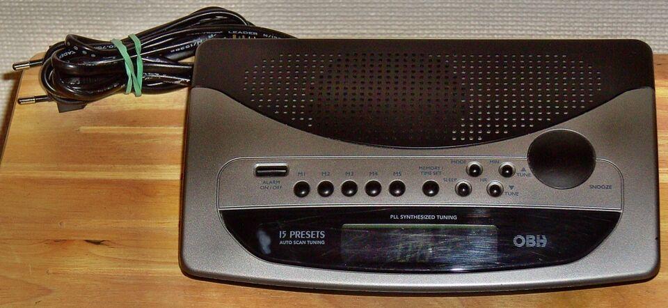 Clockradio, Andet, OBH clock radio