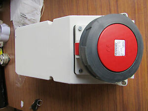 Mennekes IP67 Red Surface Mount 3PE Right Angle Industrial Power Socket 847219 - Bicester, Oxfordshire, United Kingdom - Mennekes IP67 Red Surface Mount 3PE Right Angle Industrial Power Socket 847219 - Bicester, Oxfordshire, United Kingdom