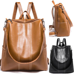e15f375b703 Details about Anti-theft Women PU Leather Rucksack Travel Shoulder Bag  Girls Ladies Backpack