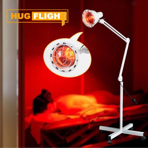 275W Infrarot Lampe Infrarotlampe Strahler Wärmelampe Rotlicht Lampe mit Rädern
