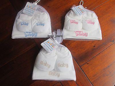 Razionale Baby Cappello & Bootie Calzatura Gift Set Ragazzi Ragazze Bianco Rosa Blu Newborn Nuovo Bambino-mostra Il Titolo Originale
