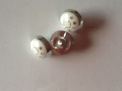 10X//12mm APROX  AB    MUSHROOM   BUTTONS SEE THROUGH HOLE THROUGH BACK