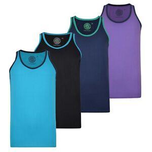 KAM-Men-039-s-Athletic-Vest-Plain-Casual-Summer-Sleeveless-Tank-Top-For-Gym-amp-Sports