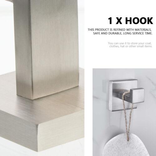 Bathroom Towel Hook Stainless Steel Clothes Coat Robe Hooks Wall Mounted Hanger