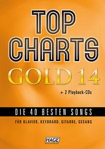 Top-Charts-Gold-14-mit-2-CDs-NEU-1-Bleistift-034-Musikmotiv-034