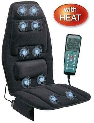 Massage Seat Cushion Heat Car Chair Home Sit Support Foam Back Neck Pad  Portable | EBay