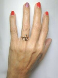 Victorian-Deco-Art-Nouveau-Snake-Golden-Brown-Natural-Diamond-Ring-Sz-7-UK-N1-2