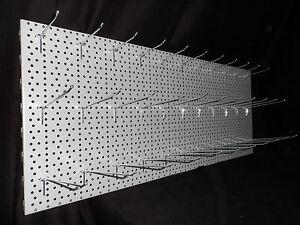 1x-LOCHWAND-SILBER-100x40cm-HAKEN-11x20cm-11x16cm-11x10cm-EINFACHHAKEN-TEGO