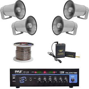 8 1 pa horn speakers mono mic amplifier speaker wiring lavalier rh ebay com Shure Mic Wiring CB Mike Wiring