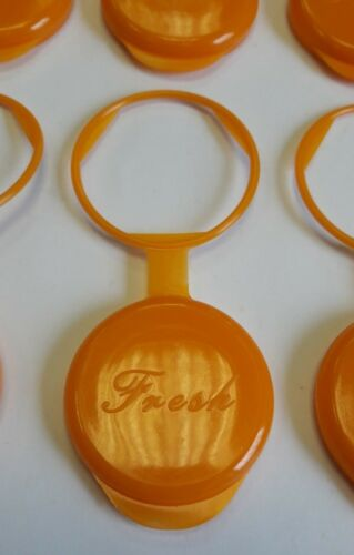 Orange 6 Off Milk Bottle Top Topper Cap