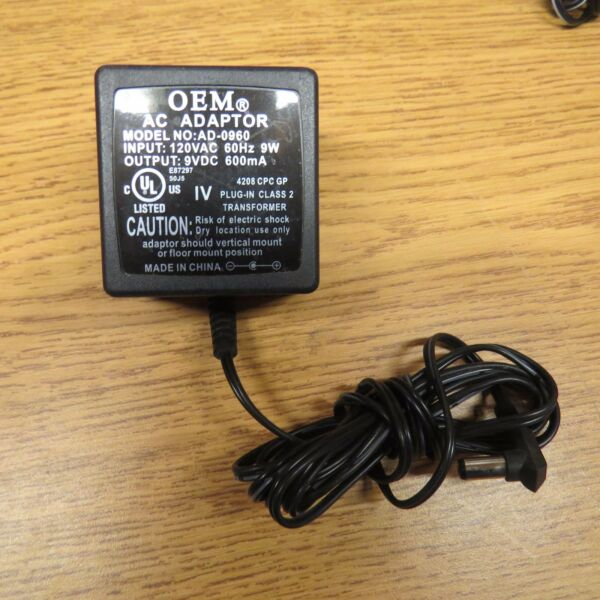 + Oem Ad-0960 9vdc Ac Adapter