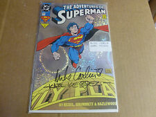 Superman 505 Adventures of Superman DC Comic Book from 1993 NM Key Issue SIGNED
